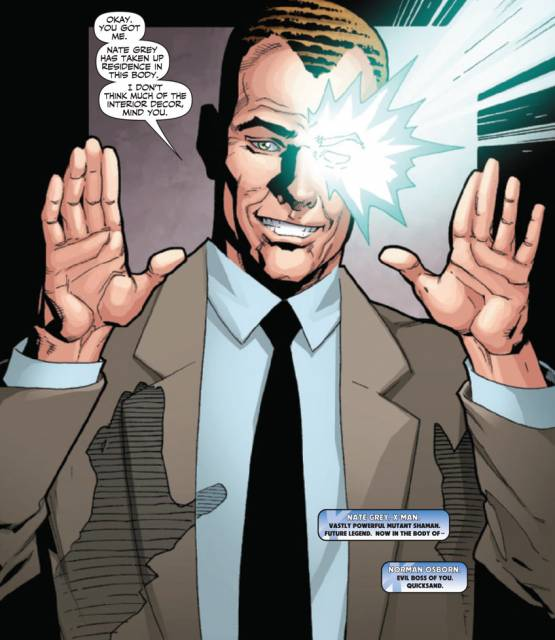 Posing as Osborn