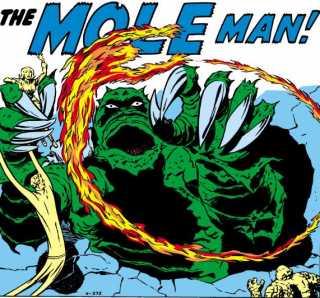 The Fantastic Four v.s Mole Man