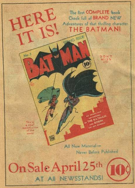 Ad for Batman #1