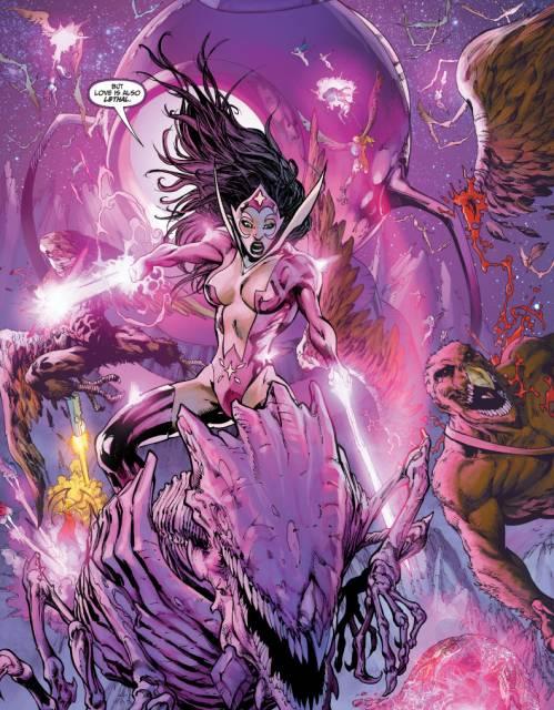 Carol and The Predator come to Hawkgirl and Hawkman's rescue in Brightest Day