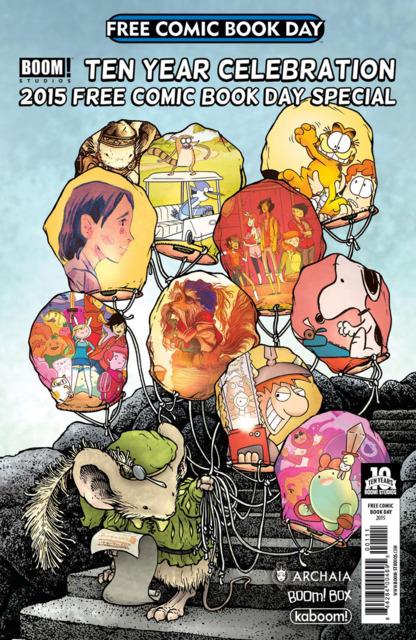 BOOM! Studios Ten Year Celebration 2015 Free Comic Book Day Special