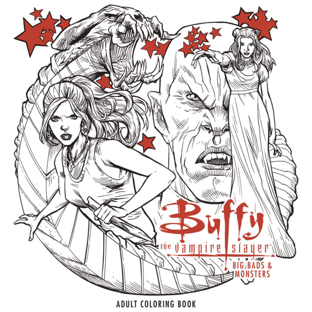 Buffy the Vampire Slayer: Big Bads & Monsters Adult Coloring Book