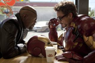 Fury with Iron Man