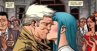 John's wedding kiss