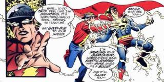 Jay Garrick steals Superman's speed