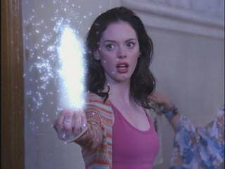 Paige using her powers