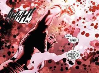 Captain America wielding the Gauntlet