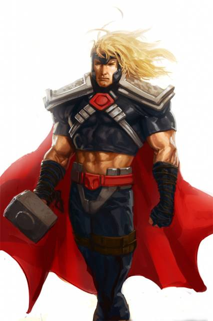 Thor's short-lived costume from the Onslaught crossover