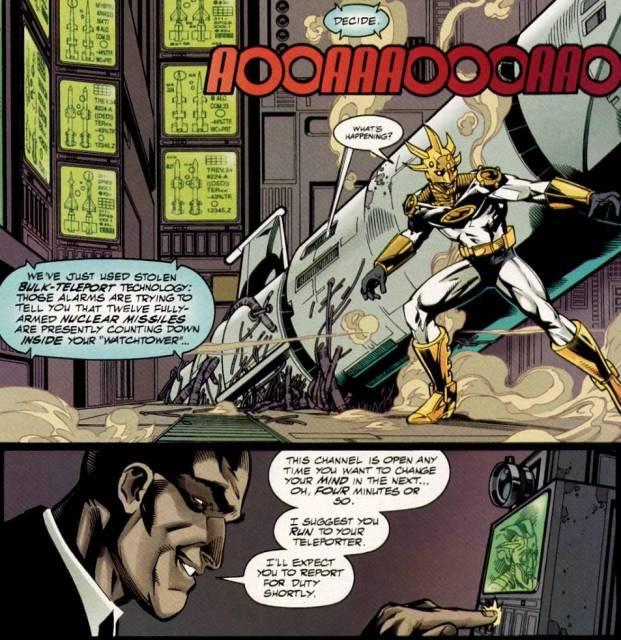 Luthor's ultimatum to Aztek