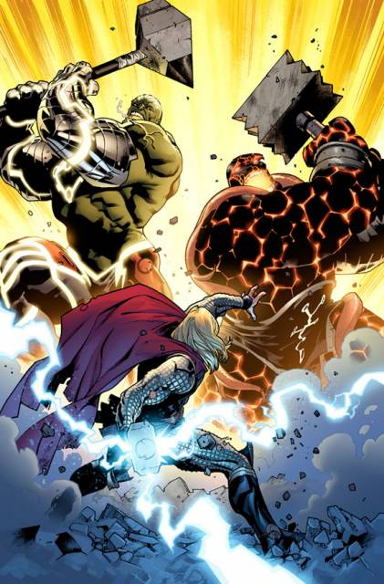 Thor battles Nul and Angrir