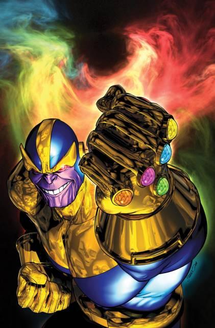 Thanos Wielding The Infinity Gauntlet