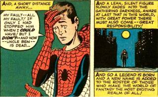 Peter mourning Uncle Ben's Death