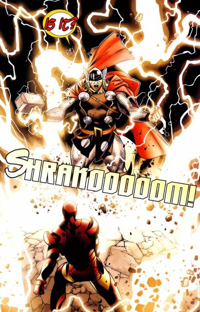 Iron Man feels the fury of Thor!
