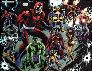 Thanos in the Marvel Zombieverse