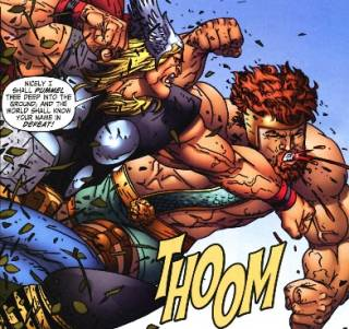 Thor and Hercules: Brawling during Blood Oath