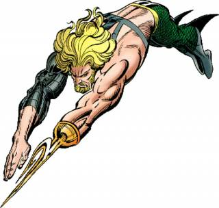 Aquaman with his cybernetic hook