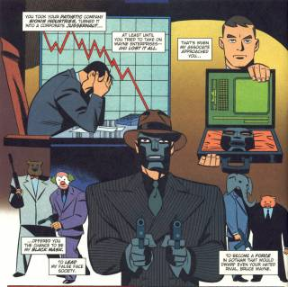 The origin of the DCAU Black Mask, narrated by the Red Hood.