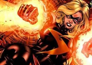 Ms. Marvel generating cosmic blasts