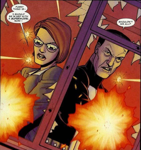 The Punisher and Lt. Molly Von Richthofen team up against the Gnucci Family.