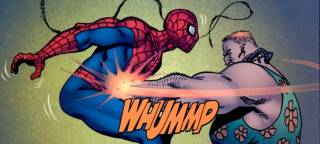 Russian beating up Spider-Man