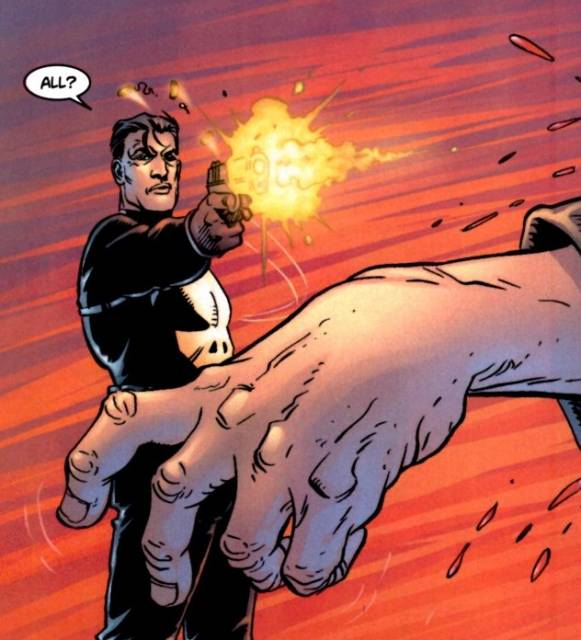 The Punisher shoots General Kreigkopf
