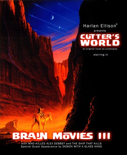 Michael Whelan cover for Ellison's Brain Movies Vol. 3