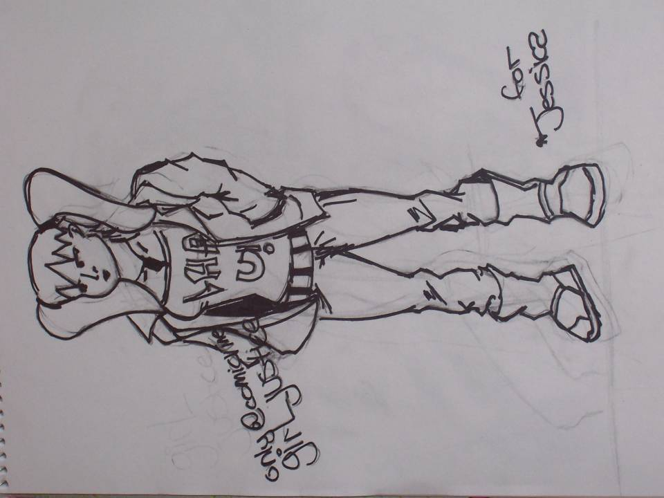 a pic of my comicvine identity i did. yeah it's goofy. shout out to jessica, my bff.