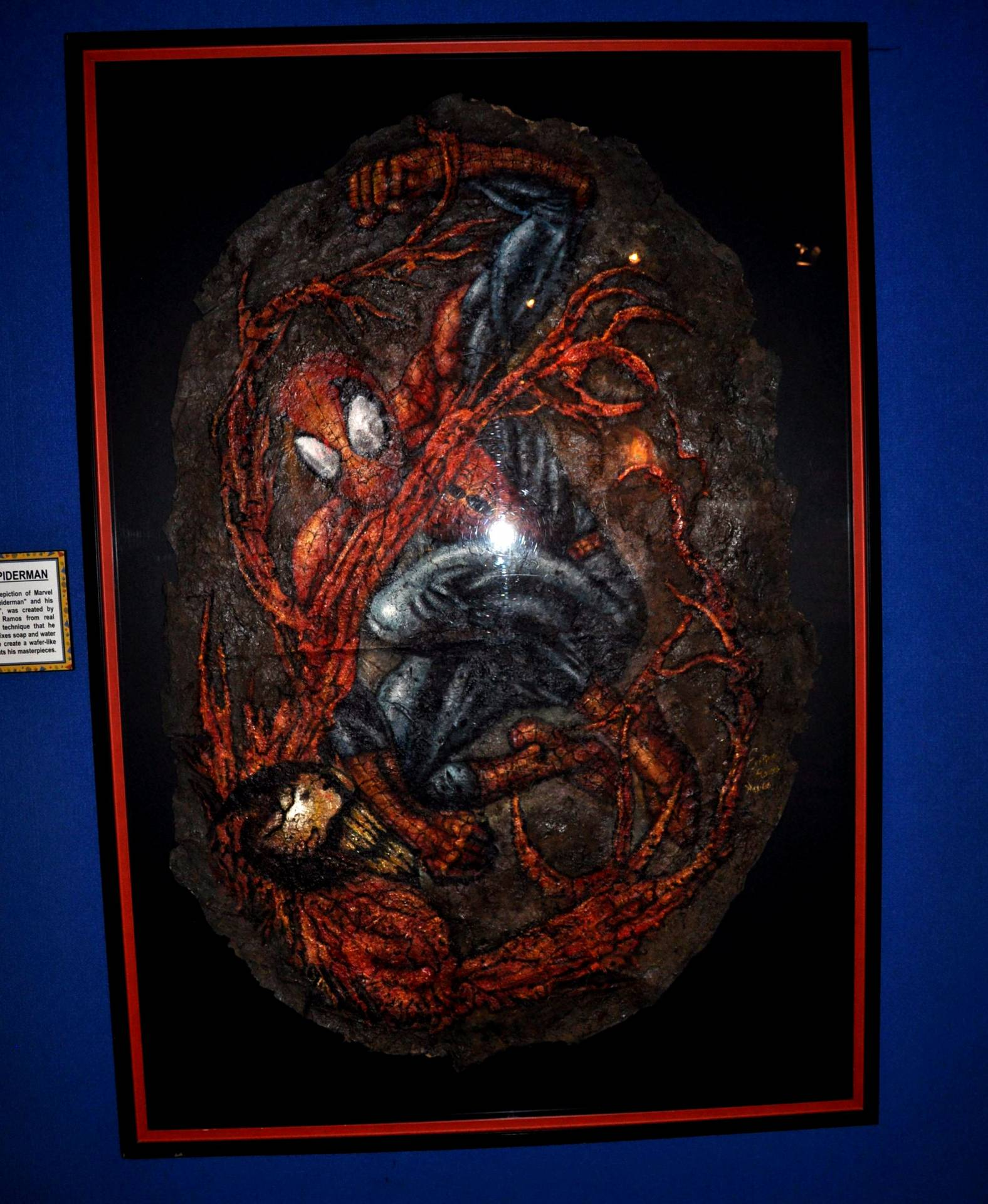 Spider-Man Vs Carnage - A Spider-Web made painting!