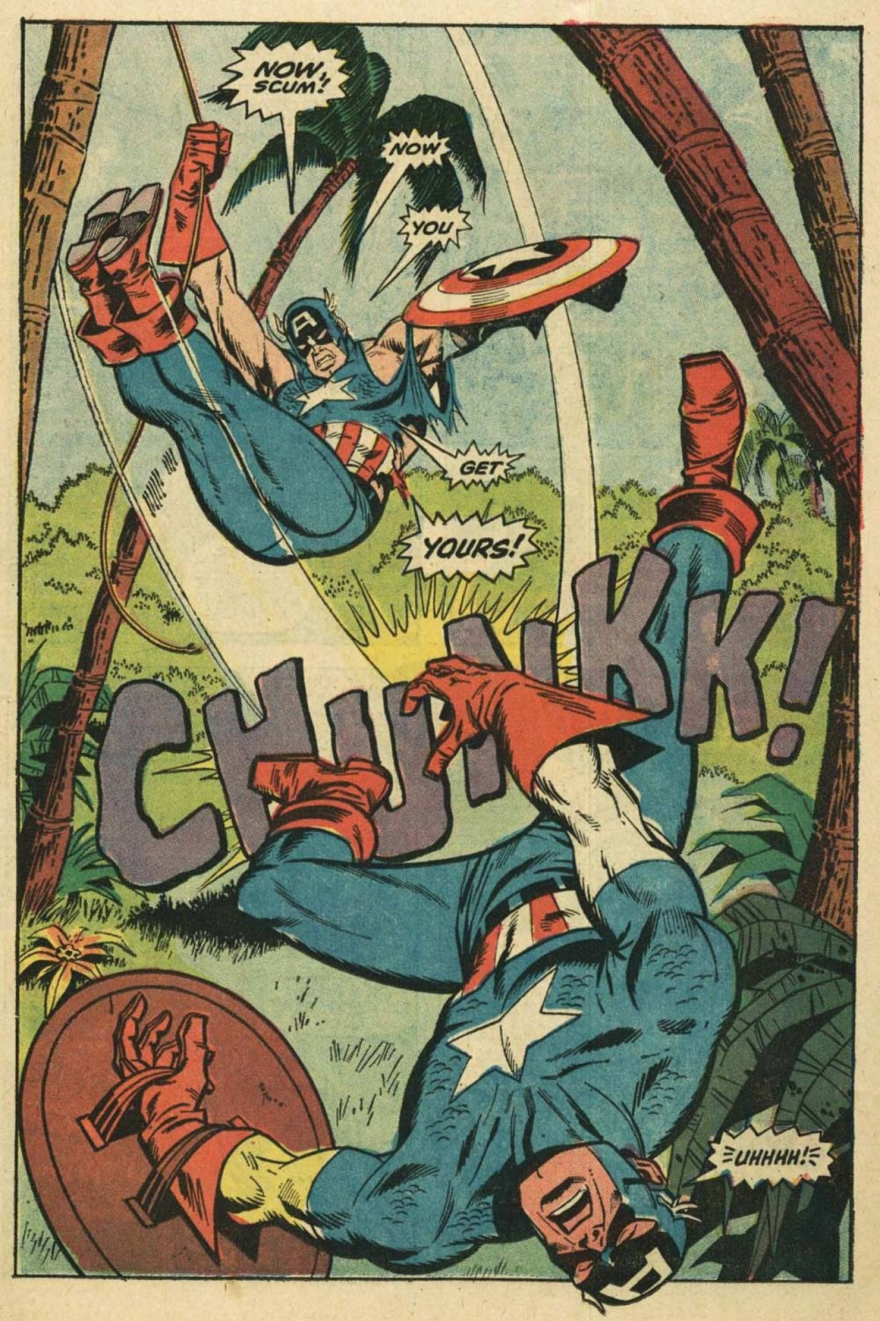 The two Captain America fight