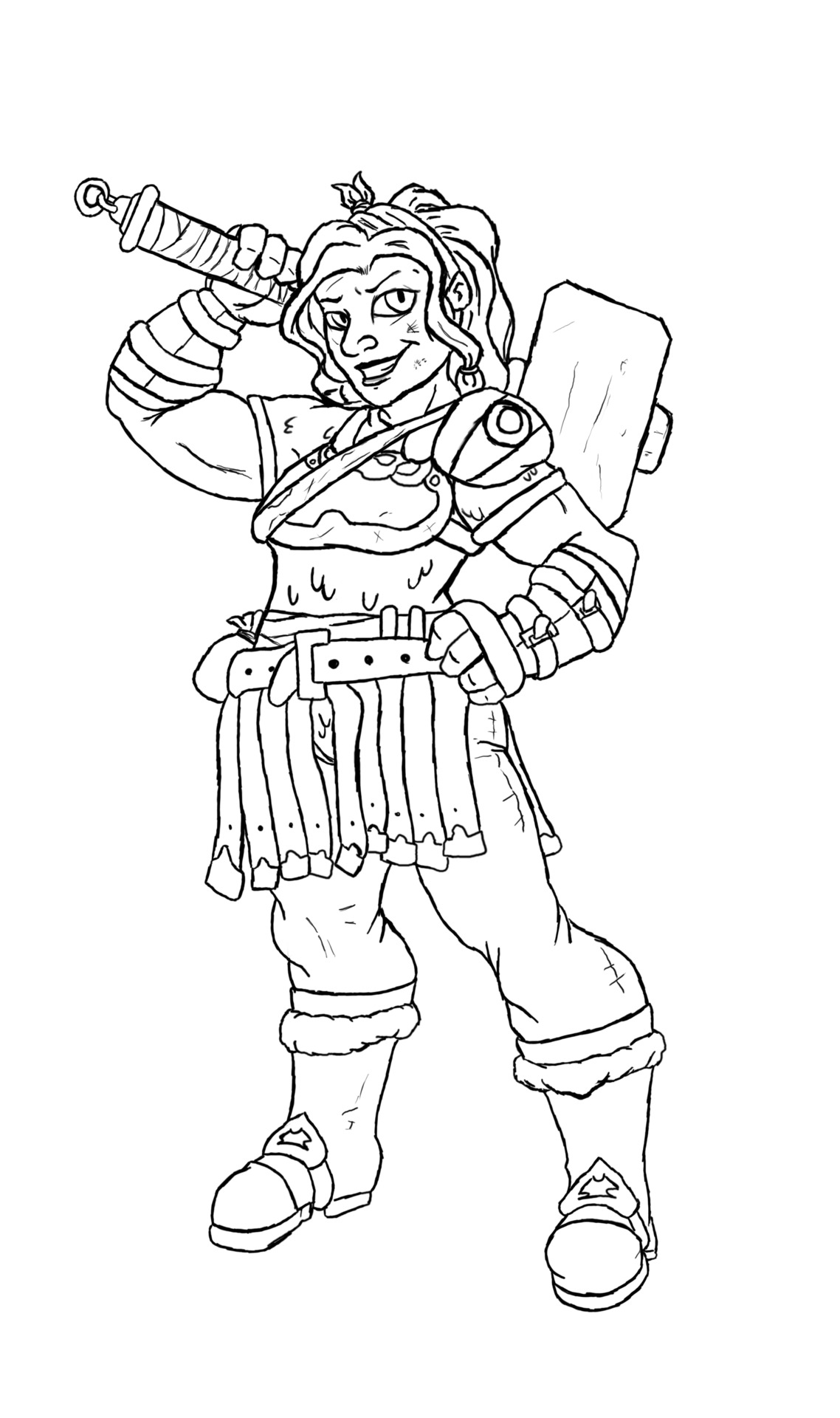 Maron the Dwarf. Total fighter class.