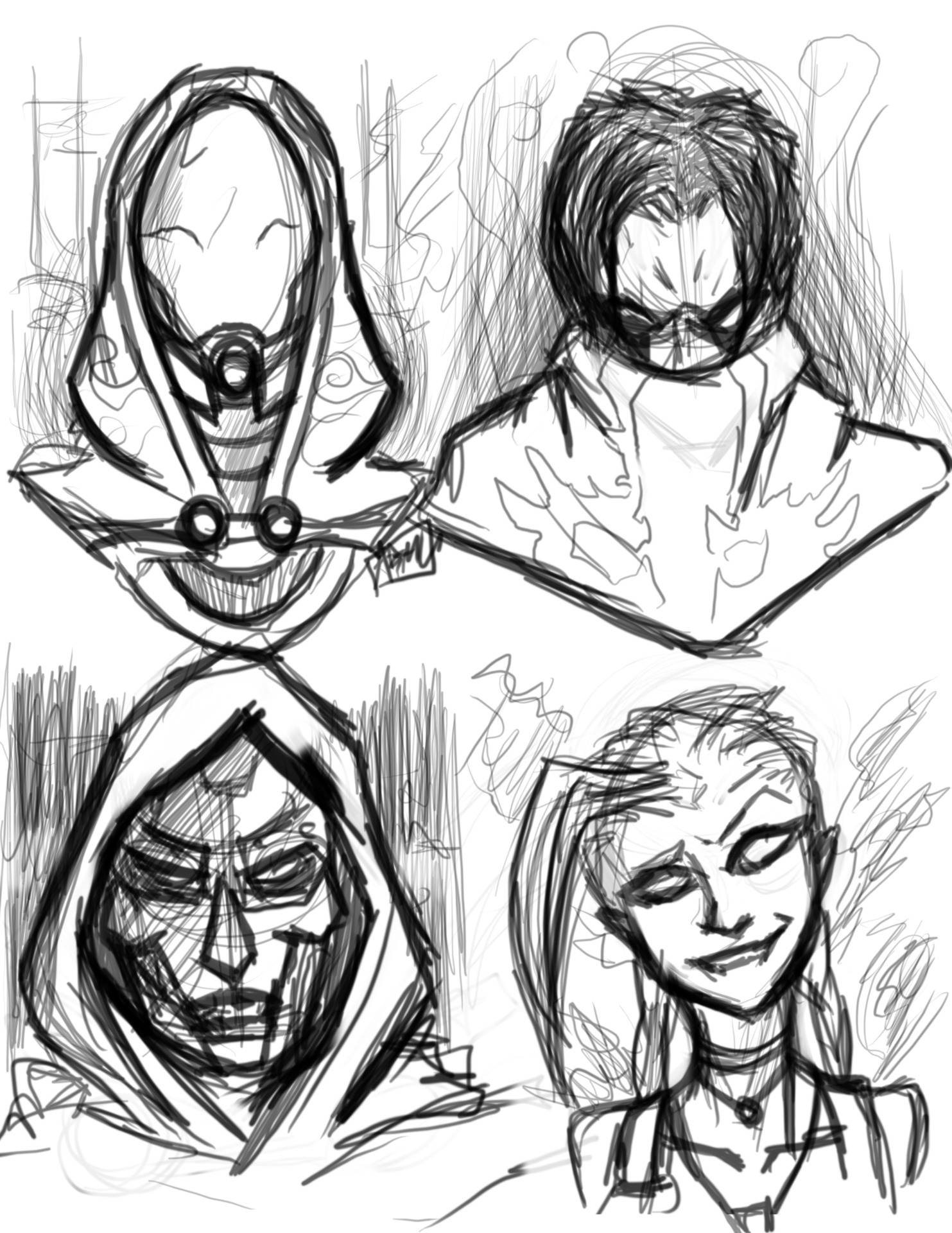 Some random character busts