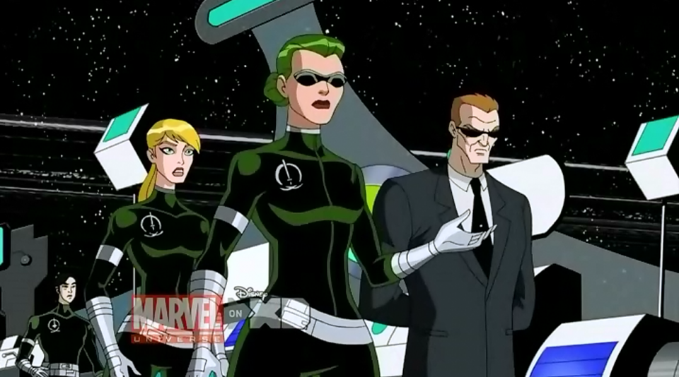 Agent Brand in the Avengers cartoon