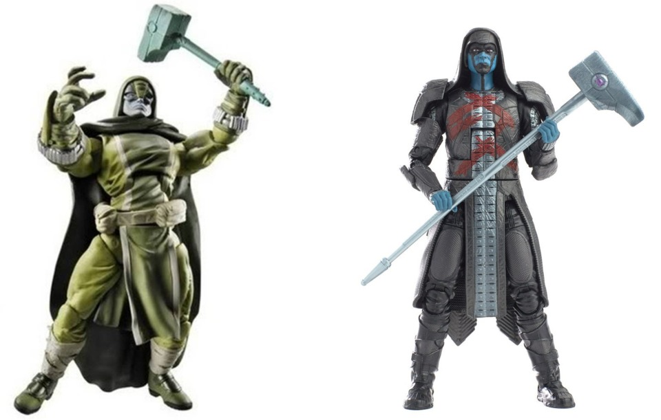 The two Marvel Legends figures