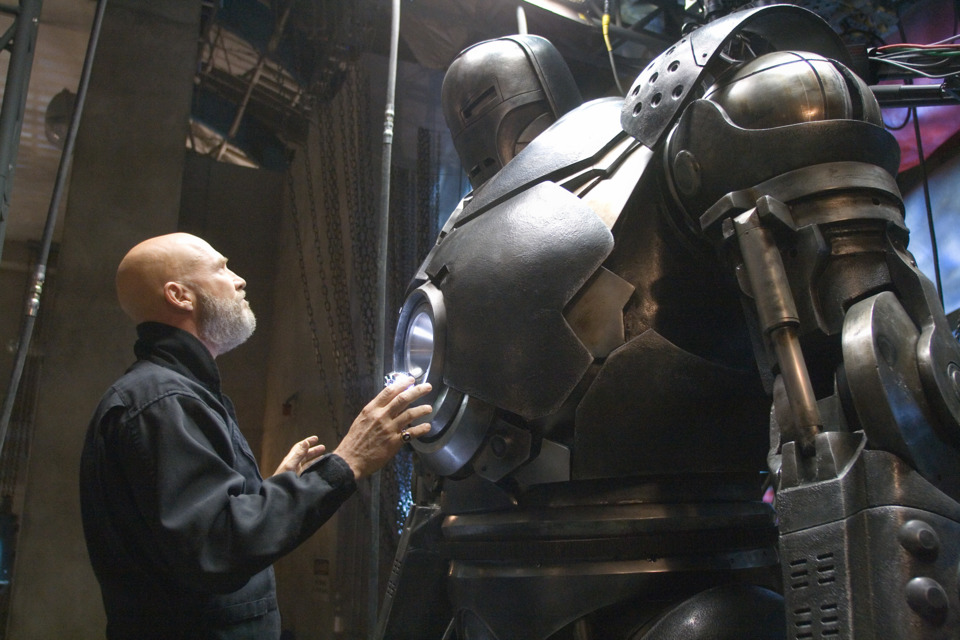 Stane with the Iron Monger suit