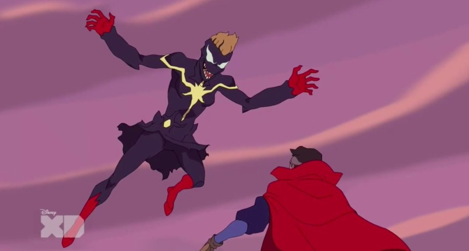 Venomized Captain Marvel