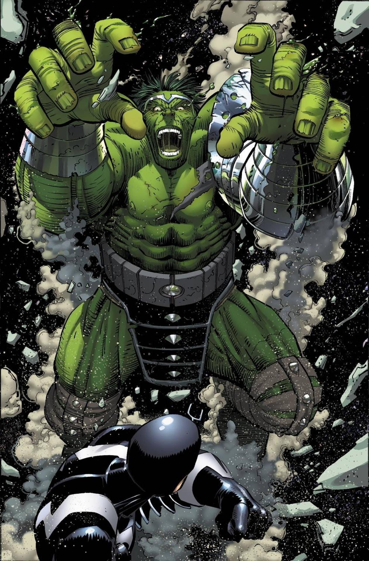 Hulk vs. Black Bolt by John Romita Jr.