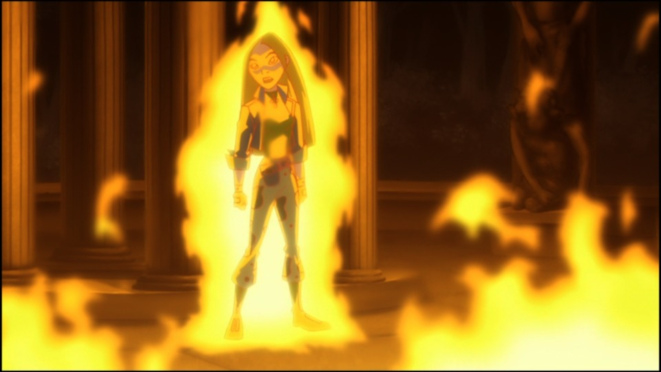 Liz showing some badass Dark Phoenix vibes