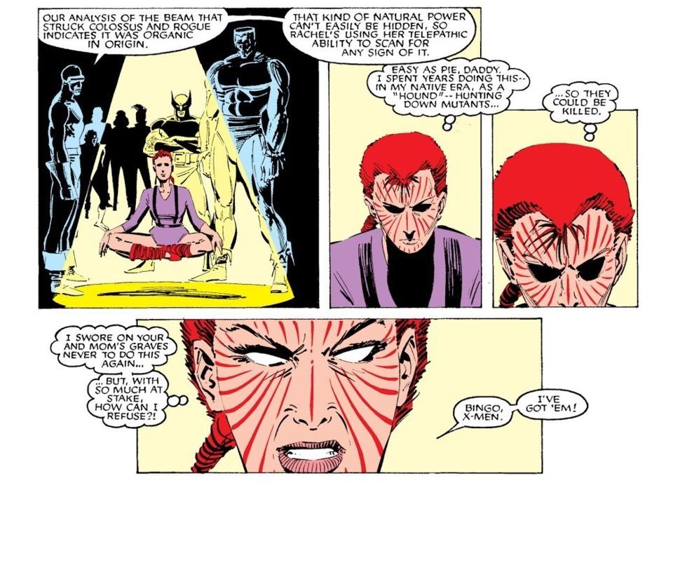 Scans for organic energy signatures of the Fenris twins - Uncanny X-Men #200