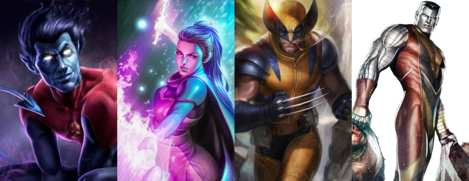 Nightcrawler, Psylocke, Wolverine & Colossus