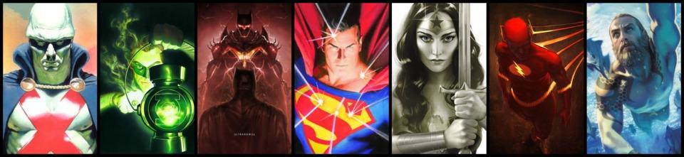 Martian Manhunter / Green Lantern / Batman / Superman / Wonder Woman / Flash / Aquaman