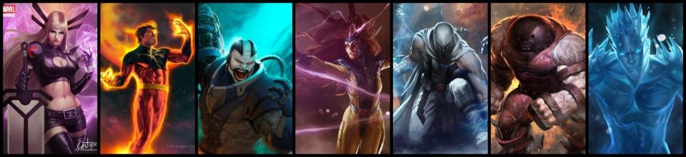 Magik / Vulcan / Apocalypse / Jean Grey / Magneto / Juggernaut / Iceman
