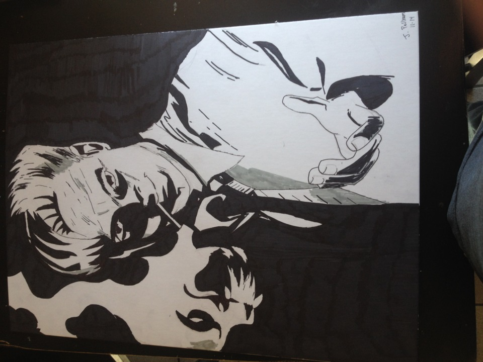 John Constantine (This is the D. Stokes version that I did for art class)