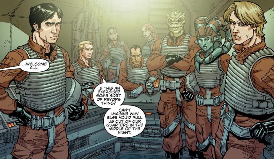 Princess Leia's secret stealth squadron, later known as Rogue Squadron.