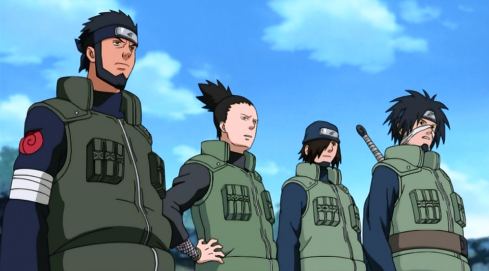 Shikamaru with his new team.