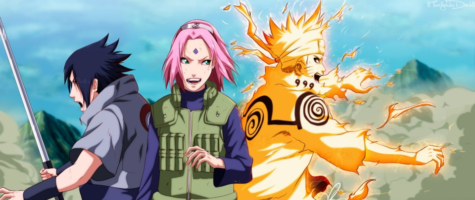 Sasuke reunites with his Team 7 teammates.