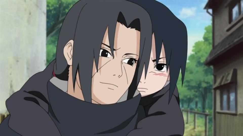 Itachi and a young Sasuke.