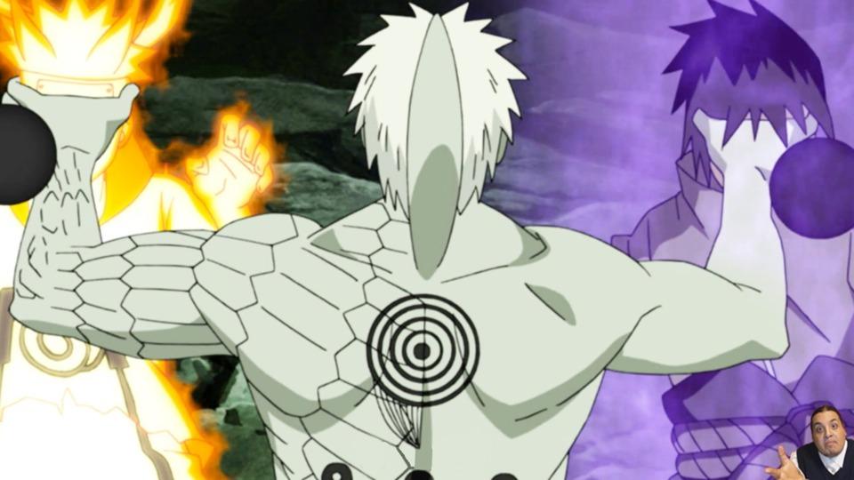 Obito capturing Naruto and Sasuke.