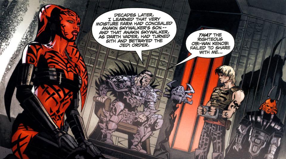 Krayt tells his story to a captured Cade Skywalker.