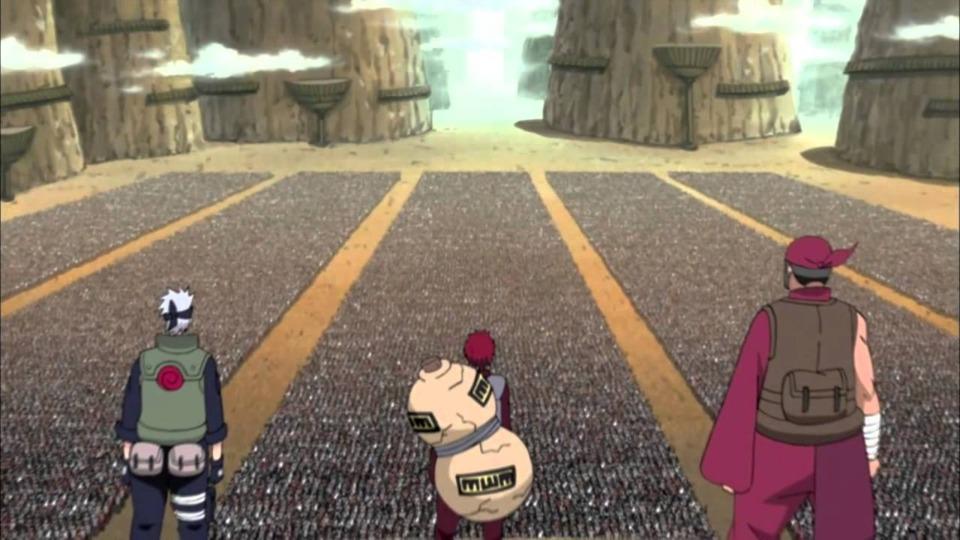 Gaara addressing the Allied Shinobi army.
