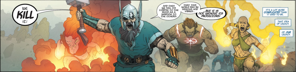 How I would have written Marvel Legacy's 1,000,000 BC avengers vs the Fallen
